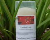 Passion Fruit Scented Vegetable Protein Deodorant Full Size Tube 2.4 oz.