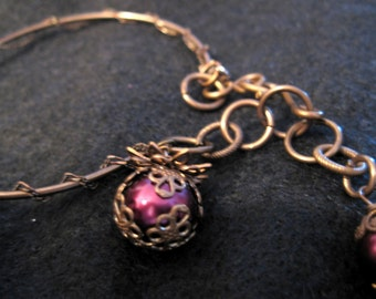 Berry Charm Bangle Bracelet