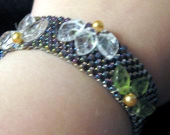 Beaded Floral Fantasy Bracelet