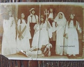 Photographic Vintage Postcard School Play Theatrical
