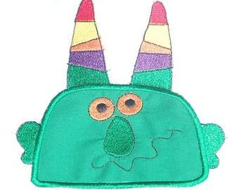 Silly Monster Embroidered Applique Patch