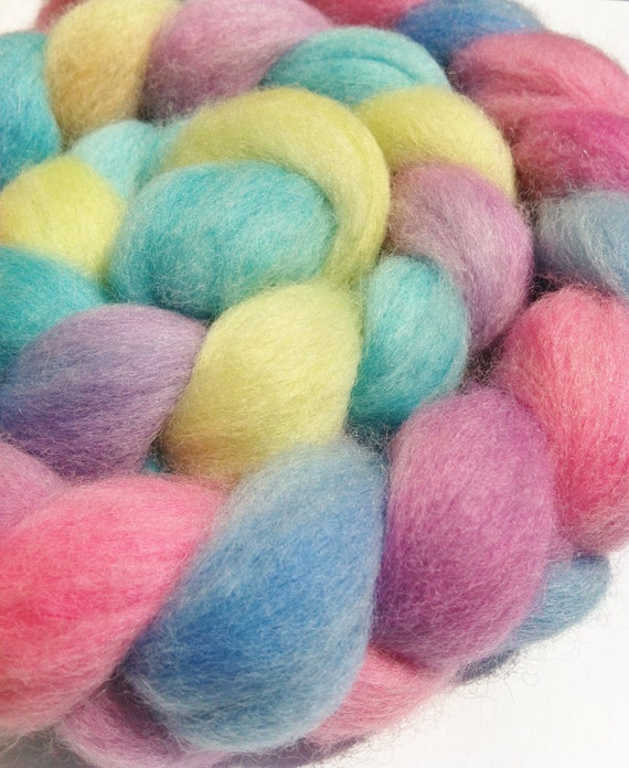 Wool Roving -SHERBET FIZZ -Corriedale