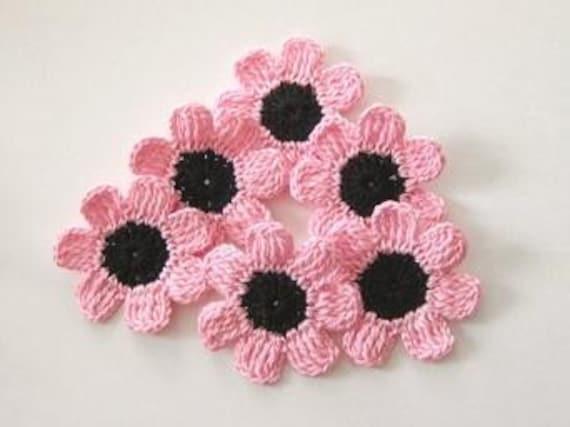 Fairytale Crochet Flowers, 6 pieces