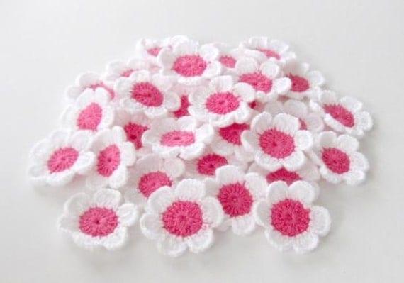 SALE SALE SALE Fairytale Crochet Flowers, 10 pieces Was 10 now 8