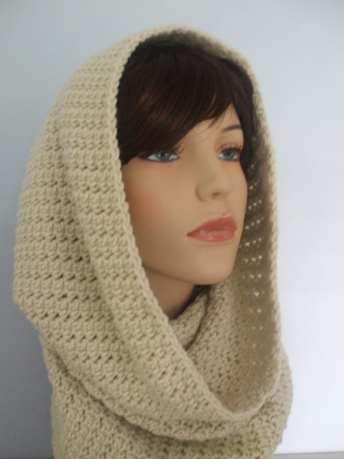 All In One Crochet Cowl Neck Hood and Scarf Item by yarnnscents Cowl Neck Scarves Crochet