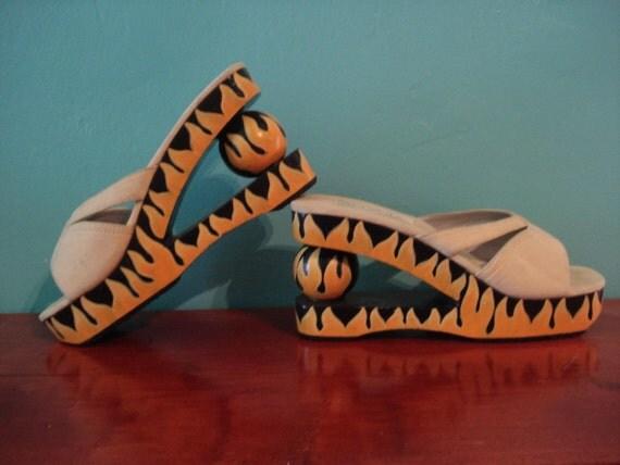 Flames Platform Shoes