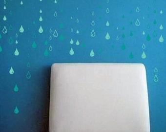 Raindrops - Mini Pack Vinyl Wall Decals