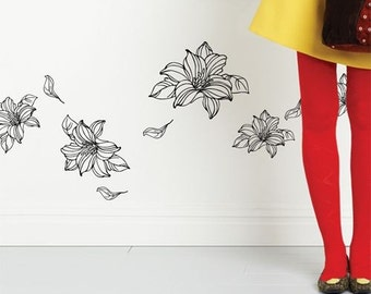 Floating Flowers - Wall Decal