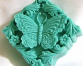 Gardenia Butterfly Shea Butter Soap Color and Scent Customizable