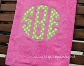 Giant Applique Monogram Beach Towel