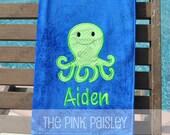 Octopus  Applique beach towel