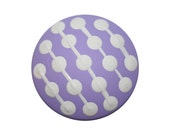 Lavender Purple with White Polka Dots and Stripes Knob-FREE Gift Wrap