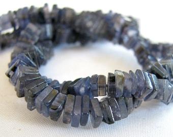 "ON SALE Iolite Smooth Cube Heishi Beads, 16"" FULL strand, 3.5 - 5mm (3w73c)"