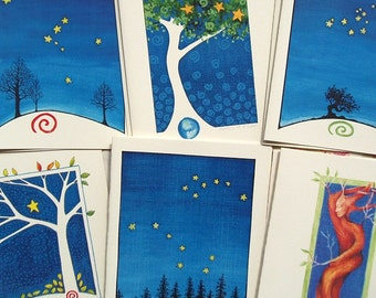 Tree Assortment Notecards - set of 12 blank cards