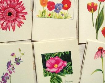 Flower Assortment Notecards - set of 6 blank cards