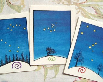 Star Series notecards - set of 6 blank cards