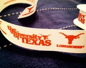 10 yards COLLEGIATE LICENSED Texas Longhorns grosgrain ribbon