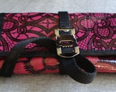 Bicycle tool roll - oilcloth (fuchsia)