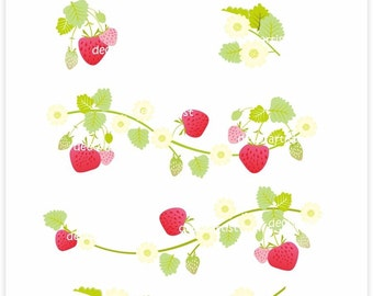 Popular items for strawberry vines on Etsy