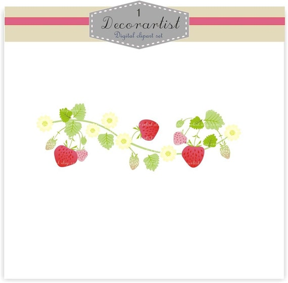 MAKING YOUR OWN STRAWBERRY border ,DIGITAL CLIP ART for ...
