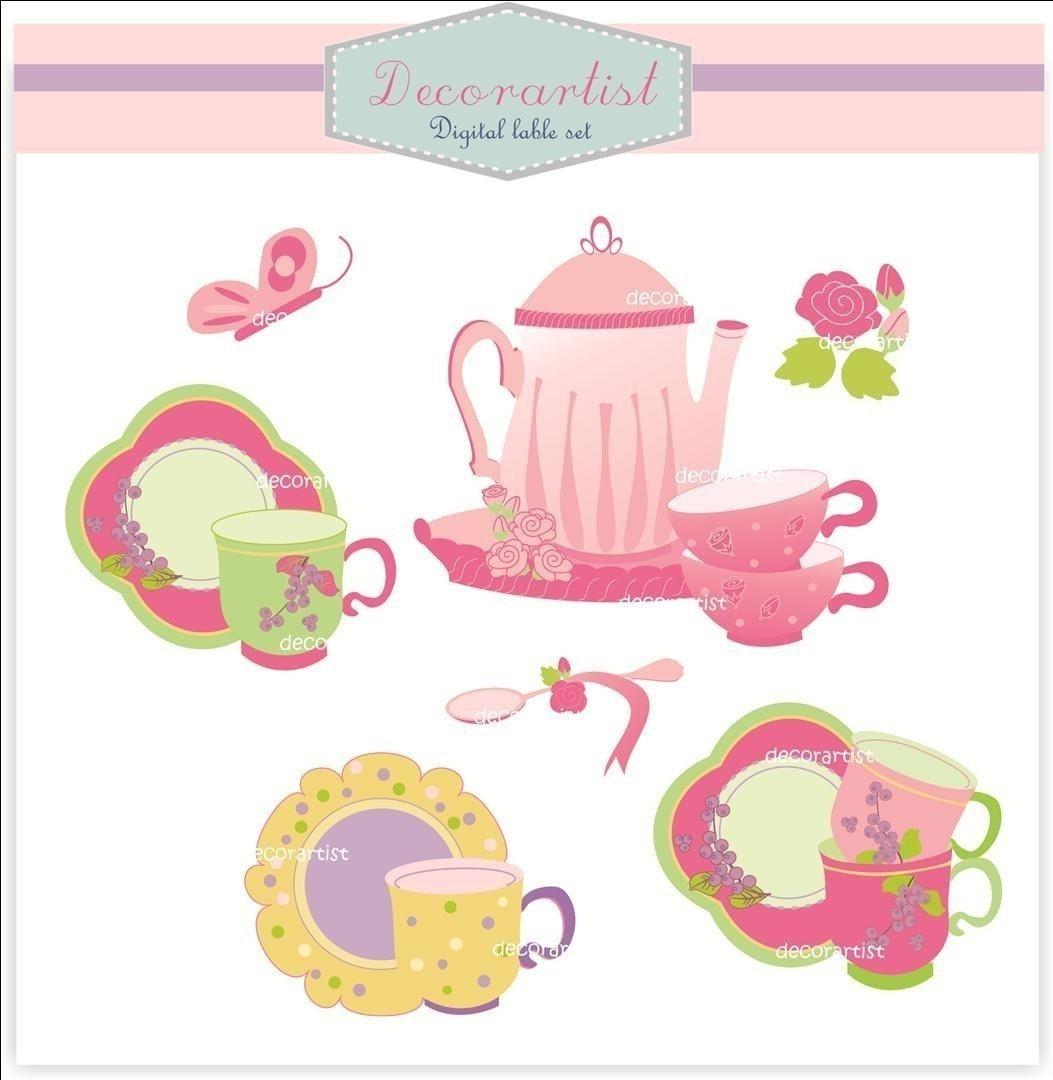 clipart tea party invitation - photo #48