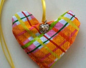 Organic Lavender Heart and Charm