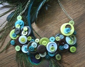 The Peacock Button Necklace