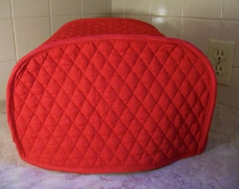 Crimson Red 2 Slice Toaster Covers Reversible Made To Order