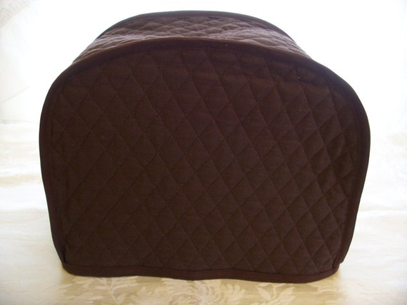 brown 2 slice toaster covers ready to ship by cozykitchencovers. Black Bedroom Furniture Sets. Home Design Ideas