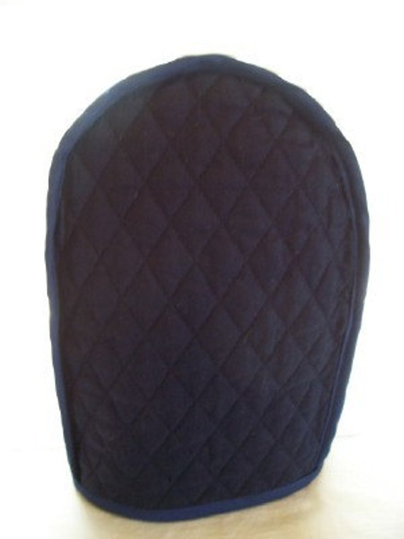 Navy Blue Quilted Can Opener Cover Reversible By