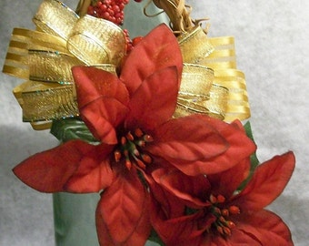 Poinsettia Christmas Ornament Large - by DownHomeDesigns