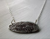 RESERVED silver fern frond necklace : botanical nature jewelry . handcrafted silver, one of a kind, maidenhair fern