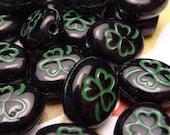 Lucky Shamrocks - Glass Beads