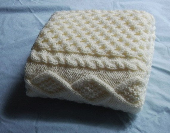 RESERVED for Claire11209 Hand Knit Baby Blankets