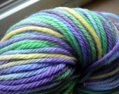 Spring Violets - Hand Dyed yarn - Dawn Worsted 220 yds - free shipping