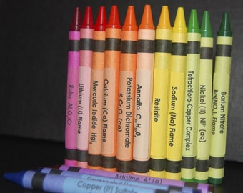 Chemistry Crayon Labels - set of 96