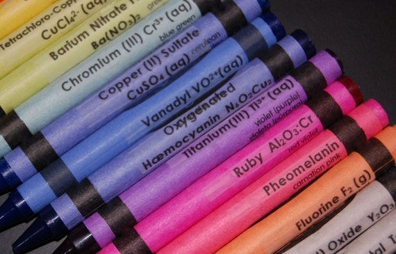 Chemistry Crayon CLEAR Labels - set of 16