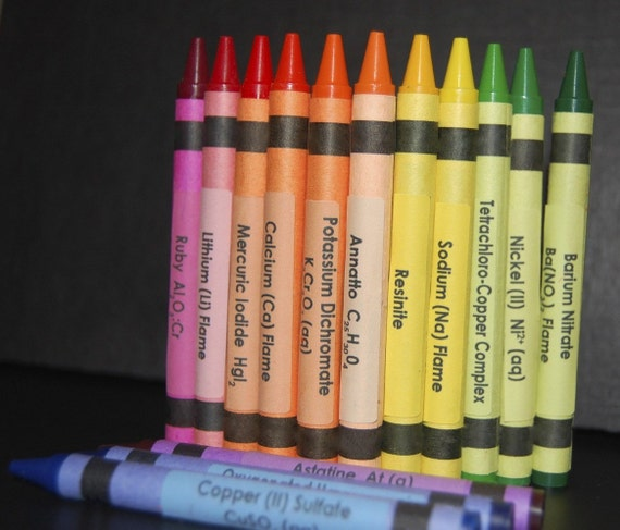 Chemistry Crayon Labels - set of 96