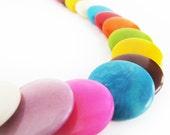 Summer SALE 30% OFF - Multicolor Circle Tagua Necklace