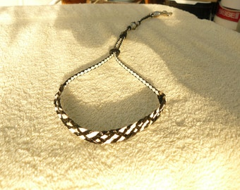 Braided Kangaroo Leather Grooming Noose - Made To Order