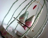 Fabric Lovebirds in Cage