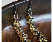 Long sterling silver earrings