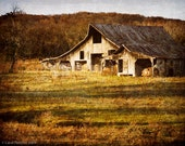 Old Barn - Nolensville Tennessee - Fine Art Photography Print - 8x10 - Rustic - Farm - Fall - Vintage