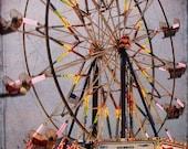 Wilson County Fair Ferris Wheel - Fine Art Photography Print - 8x10 - Carnival - Neon - Evening