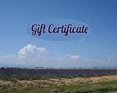 Gift Certificate KatEzat 20 dollars
