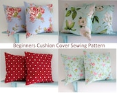 PDF Sewing Pattern make a simple envelope Cushion Cover