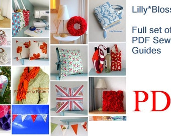 Full set of LillyBlossom PDF Sewing and Craft Guides
