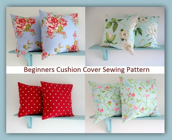 PDF Sewing Pattern easy to make Cushion Cover