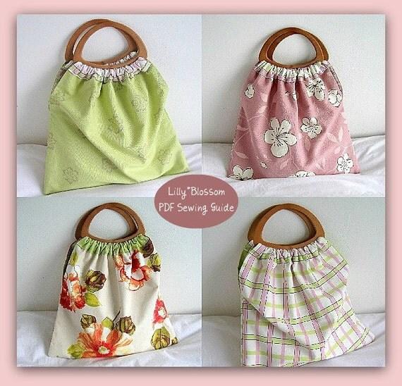 PDF Sewing Guide Reversible Craft Knitting Bag
