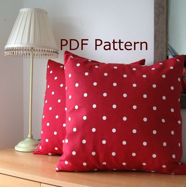 pdf sewing pattern simple envelope cushion cover. Black Bedroom Furniture Sets. Home Design Ideas